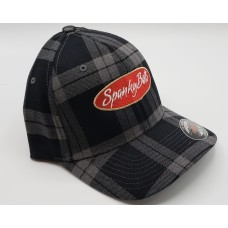 Hat-Black Plaid